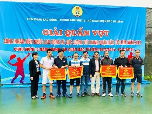 Giải Quần vợt Công nhân viên chức lao động và lực lượng vũ trang quận Bắc Từ Liêm năm 2019.